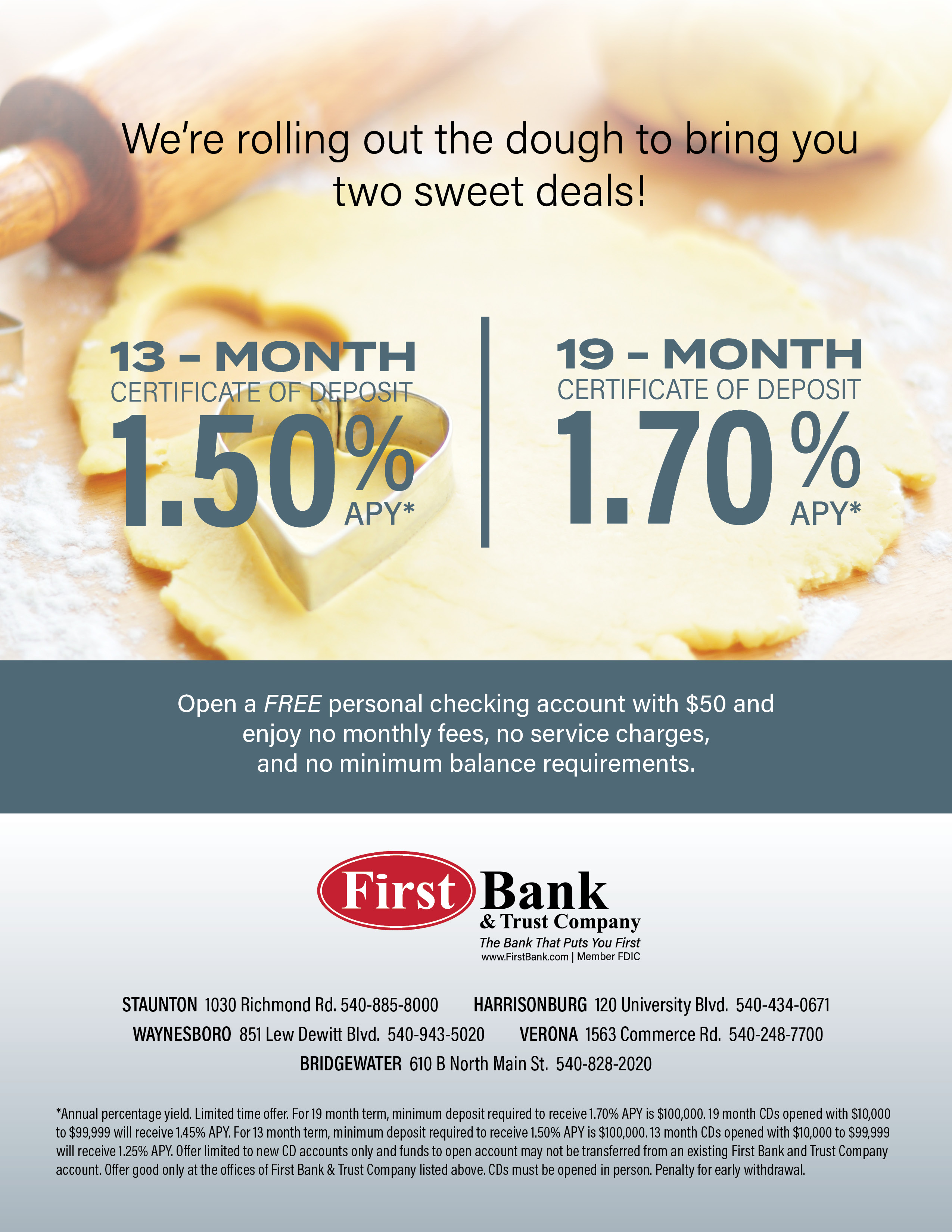 Two Sweet Deals First Bank And Trust Company
