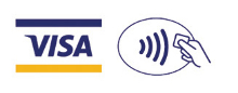 Visa and Apple Pay logos
